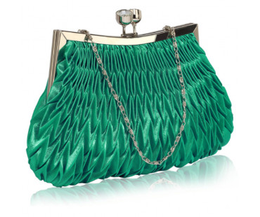 Psaníčko Emerald Crystal Evening Clutch Bag