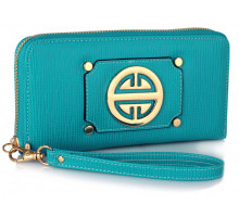Peněženka Teal Purse/Wallet with Metal Decoration