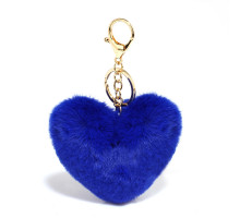 Přívěsek na kableku Blue Fluffy Heart Bag Charms