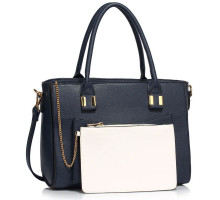 Kabelka Navy Tote With Removable Pouch