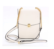 Kabelka White Flap Twist Lock Cross Body Bag