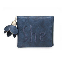 Peněženka Navy Trifold Purse / Wallet With Charm