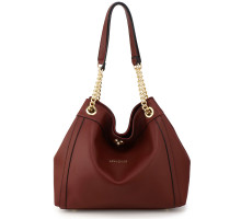 Kabelka Anna Grace Burgundy Women's Hobo Shoulder Bag
