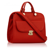 Kabelka Red Womens Satchel With Long Strap
