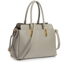 Kabelka Grey Women's Tote Bag With Polished Hardware