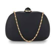 Psaníčko Black Hard Case Rhinestone Evening Clutch Bag