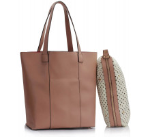 Kabelka Nude Tote Shoulder Bag With Pouch