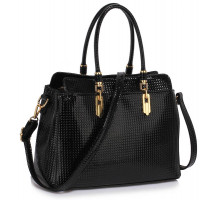 Kabelka Black Women's Tote Bag With Polished Hardware