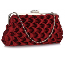Psaníčko Red Wave Folds Evening Clutch Bag - červená