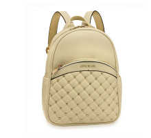 Batoh Ivory Quilt & Stud Backpack School Bag