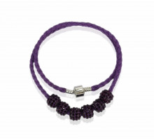Náhrdelník Purple Womens Crystal Necklace