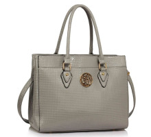 Kabelka Grey Metal Detail Grab Tote Handbag