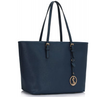 Kabelka L&S Fashion Navy Women's Large Tote Bag - modrá