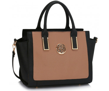 Kabelka Black /Nude Tote Bag With Long Strap