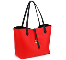 Oboustranná kabelka Black/Red Large Tote Bag