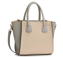 Kabelka Grey / Nude Fashion Tote Bag