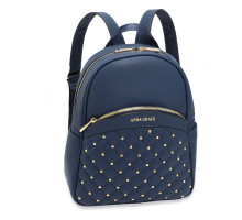 Batoh Navy Quilt & Stud Backpack School Bag