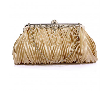 Psaníčko Nude Crystal Satin Evening Clutch Bag