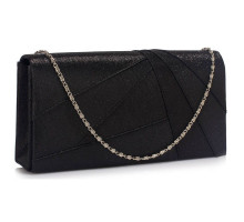 Psaníčko Black Satin Clutch Evening Bag