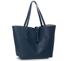 Kabelka L&S Fashion Large Navy Shoulder Handbag