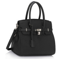 Kabelka Black Padlock Tote With Long Strap