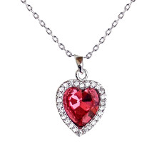 Náhrdelník Crystal Red Heart Necklace