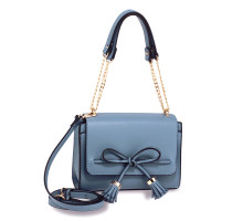 Kabelka Blue Flap Tassel Cross Body Bag - modrá