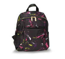 Batoh Black Splash Print Backpack School Bag