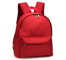 Batoh Burgundy Unisex Backpack School Bag - červený