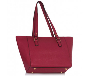 Kabelka L&S Fashion Burgundy Grab Shoulder Handbag