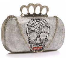 Psaníčko Silver Women's Knuckle Rings Evening Bag