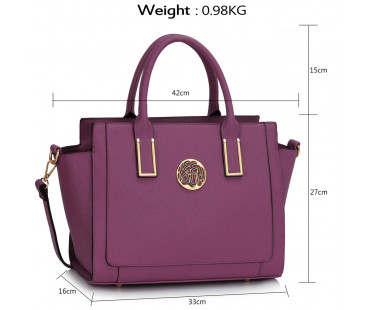 Kabelka Purple Tote Bag With Long Strap