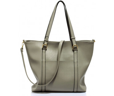 Kabelka Large Grey Shoulder Handbag - šedá