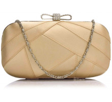 Psaníčko Nude Satin Clutch Evening Bag - tělová