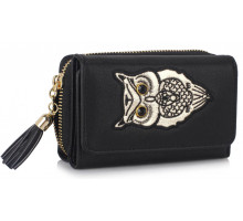 Peněženka Black Owl Design Purse/Wallet