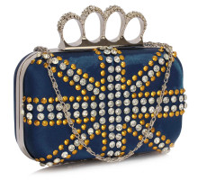Psaníčko Navy Women's Knuckle Rings Evening Bag