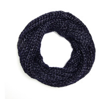 Šála Plain Navy Women's Winter Scarf - nám. modrá