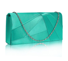 Psaníčko Emerald Satin Clutch Evening Bag