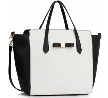 Kabelku Black / White Women's Large Tote Bag