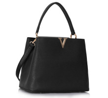 Kabelka Classic Tote With V Shaped Metal