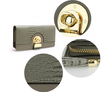 Peněženka Grey Twist Lock Purse/Wallet With Tassel