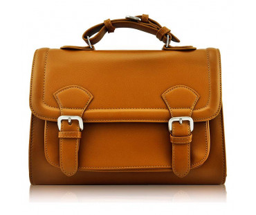 Aktovka Classic Brown Buckle Detail Fashion Satchel