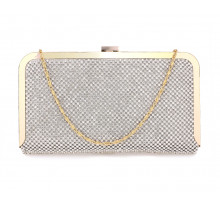 Psaníčko Silver Crystal Beaded Evening Clutch Purse