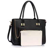 Kabelka Black Tote With Removable Pouch