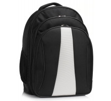 Batoh Black / White Backpack Rucksack School Bag