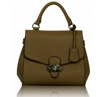 Kabelka Nude Flap and Twist Lock Satchel