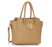 Kabelka Nude Polished Metal Shoulder Handbag