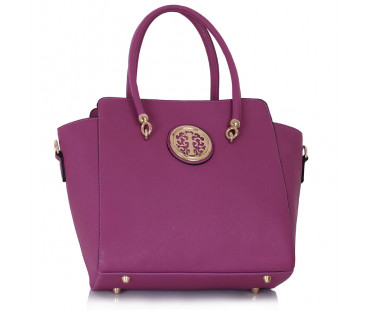Kabelka Purple Polished Metal Shoulder Handbag