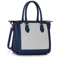 Kabelka Navy / White -  Colour Block Tote Handbag