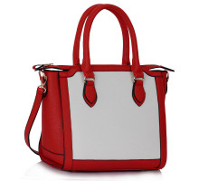 Kabelka Red / White Colour Block Tote Handbag